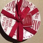 CIROA RED MERRY CRISTMAS TO YOU Appetizer Dessert Plates Set Of 4 Peace