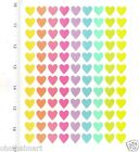 New 108 PASTEL COLOR MIXED HEARTS Stickers DECORATE LOVE VALENTINE DAY Festival