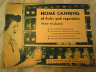 HOME CANNING  1947 U.S. Department Of Agriculture
