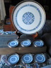Antique Germany Silver Tray Blue Porcelain water coasters Platter