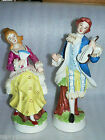 Vintage Couple Lady Man Gentleman Victorian Figurines Gold Trim Lace 12
