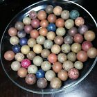 60+ COOL Old Vintage Antique Clay Marbles Lot 180Z