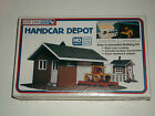 BRAND NEW SEALED HANDCAR DEPOT BUILDING KIT HO SCALE RAILROAD