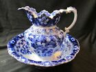 Antique F & Sons Belmont Pattern Burslem Matching Pitcher and Bowl
