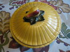 VINTAGE MAURICE OF CALIFORNIA FR-208 YELLOW SQUASH SERVING BOWL WITH LID