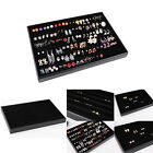 120 Hole Velvet Earring Jewelry Display Tray Case Box Holder Organizer Storage
