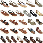 Women Sandals New Shoes Gladiator Thong Flops T Strap Flip Flat Size Strappy Toe