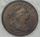 1802 LARGE CENT *RARE* S-232 Variety AU+ Detailing Beautiful Brown Tone T over Y