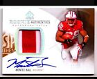 Montee Ball RC 2013 Upper Deck SP Authentic Rookie GOLD PATCH AUTO 25 Broncos