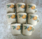 Abundance Corning Ware Corelle Cups Mug discontinued pattern Fruit  USA  Get 8