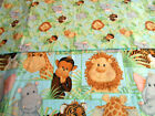 JUNGLE BABIES by PATTY REED 2006/OOP FABRIC TRADITIONS  2 PRINTS 1 2/3 YDS TOTAL