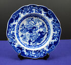 Vntg./Antq.? Flow Blue Bentick Plate Blue Crown Mark Cauldon, England