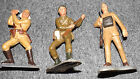 3 1963 MARX Warriors of the Word Japaneese, Canadian, British WWII  6'' figures