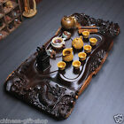 Dragons tea tray high-grade solid wood tea tray landscape tea set for tea house