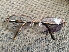 Women's L'Accent 419 Half Rimless Eyeglasses Frames 53 [] 17 135 Made In France