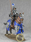 TIN soldier HORSEMAN French Knight TOY PAINTED metal miniature figure 54mm 1/32