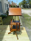Solid and Tiger oak Revolving Book Shelf  w/ Telescoping Podium Dated 1893