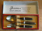 Brass fork,spoon, and knife set bu James Quality Jewellers with box!