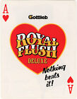 1983 GOTTLIEB ROYAL FLUSH DELUXE PINBALL FLYER