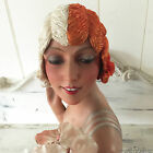 1920's Art Deco Paris Original Flapper Evening Wig Cloche Hair Boudoir two-color