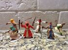 Toy Soldiers 6 54mm Plastic Painted Arabs by Timpo, Conte & AIP