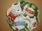 FITZ AND FLOYD KRISTMAS KITTY CHRISTMAS  COLLECTABLE  CANAPE/ COOKIE  PLATE