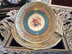 FABULOUS AYNSLEY CUP AND SAUCER TURQUOISE WITH GOLD