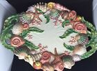 FITZ AND FLOYD OCEANA SHELL STARFISH PLATTER - LARGE