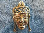 Sterling Silver Brooch Aztec or Mayan God 16.7g