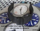 BLACK MESH BRACELET BAND METAL STRAP WILL LOOK GREAT ON YOUR STEINHART WATCH