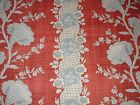 Braemore Brookside Stripe French Country Look Scrolling Floral Fabric 1.31 Yds