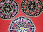 3 VINTAGE CHINESE  PORCELAIN PLATES HAND PAINTED FRUIT PATTERNS  9.5 INCHES
