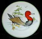 FITZ & FLOYD 'CANARD SAUVAGE' SALAD PLATE ORANGE MALLARD RED HEADED DIVING DUCK