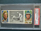 1912 HASSAN T 202 TRIPLE FOLDERS WALLACE PELTY A CLOSE PLAY AT HOME PSA 4 VG-EX