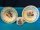 Woods & Sons Burslem England Childs Rhymes Place Setting Cup Bowl Plate Nursery