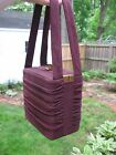 FAB Brown purple 1940s BOX purse handbag -- LOVELY inside/out  by Jenny NY Paris