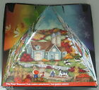 MASTER PIECES FOUR SEASONS 3D PYRAMID PUZZLE - 300 PC - REAL CORK - NIB