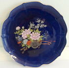 Cobalt Blue Floral Plate Hand Painted w/Gold Gilding in Japan for McCrory, Corp.