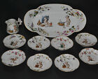 Haviland Porcelain Ice Cream Tray Eight Dessert Bowls Children Dressed As Bakers