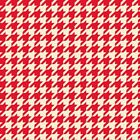 2 yds~EOB~END BOLT~ROOSTER ROYALE~QT FABRIC~RED WHITE HOUNDSTOOTH PRINT~22782 RE