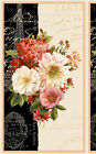 FROM PARIS WITH LOVE~WILMINGTON FABRIC~WALL  HANGING QUILT PANEL~FLORAL