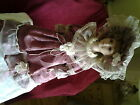 VINTAGE KNIGHTSBRIDGE COLLECTION VICTORIAN PORCELAIN AND CLOTH DOLL HANDPAINTED
