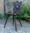 Early Georgian. Hall Chair with Ball Turned Legs and Removable Back. C1760-1800