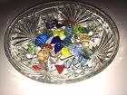 Lot of Vtg Murano Italy Hand Blown Glass Candy with dish