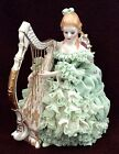 Muller Volkstedt Irish Dresden Porcelain Lace Girl Figurine Emerald Collection