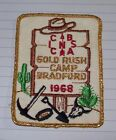Vintage 1968 Boy Scouts Patch,CIC,BSA,Gold Rush,Camp Bradford