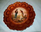Artist Painted Royal Vienna Plate with Peasants in Field Scene
