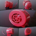 Motorcycle 12V 110 dB Motor Driven Red Air Raid Sound Compact Horn Alarm For KTM
