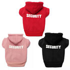 Pet Dog Clothes Printed Security Sweatshirts Hoodies Sweaters Chihuahua