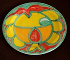 A1 - VINTAGE DESIMONE ITALY -PICASSO STYLE-MAJOLICA POTTERY PLATE 9 3/4